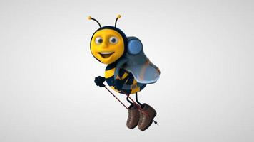 abeille de dessin animé amusant