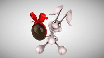 coelho de desenho animado divertido video