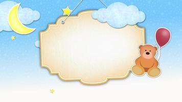 fundo de animação de banner pendurado