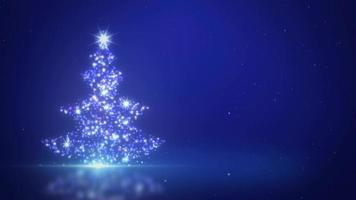 Stary Christmas Tree Background