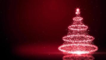 fundo de árvore de natal de ouropel vermelho video