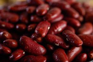 Red beans with water spray