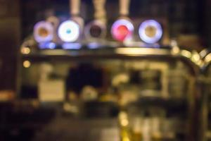 Blurred retaurant bar counter