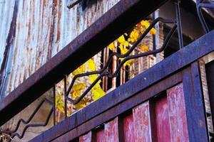 Iron on fence