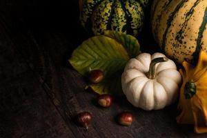 Pumpkins with chestnuts