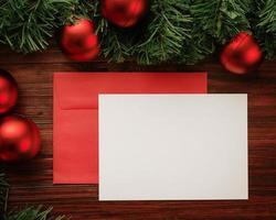 Christmas envelope mock-up
