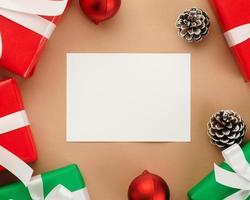 maqueta de tarjeta de felicitación de navidad