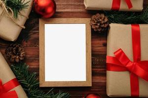 Christmas photo frame mock-up