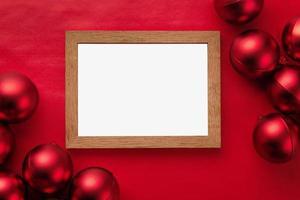 maqueta de marco de feliz navidad