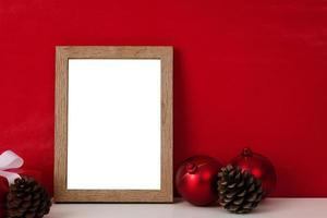 Wooden photo frame mock-up