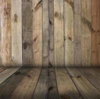 pared y piso de madera