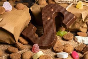 letra s de chocolate