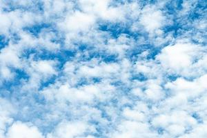 Blue skies with white clouds photo