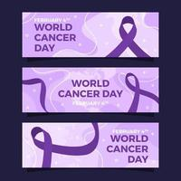 World Cancer Day Banner Collection vector
