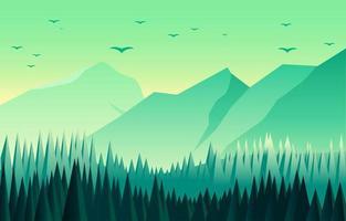 Landscape Nature Scenery Concept vector