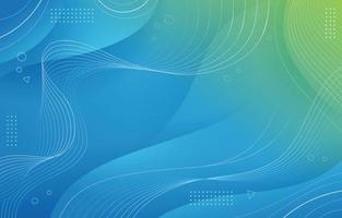 Modern Blue and Green Geometric Wave vector