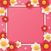 Valentine Flower Background Template vector