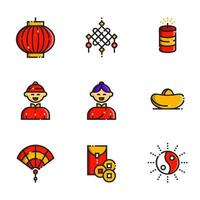 Chinese New Year Icon Collection vector