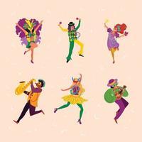 Mardi Gras Carnival People Concept vector