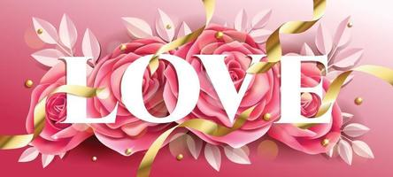 Valentine's Day Roses Concept vector