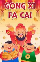 Gong Xi Fa Cai Concept Art vector