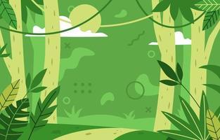 paisaje de bosque fresco fondo verde