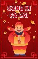 Gong Xi Fa Cai Greeting Card vector