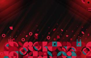 Dynamic Futuristic Red Geometric Abstract Art vector