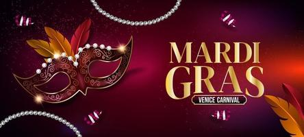 Mardi Gras Mask Background vector