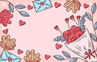Handrawn Flowers Background vector