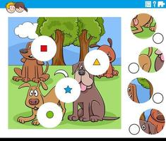 match pieces task with dogs characters vector