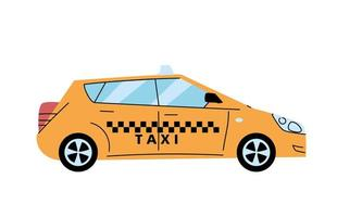 modern yellow taxi, public service vehicle vector