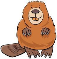 ilustración de dibujos animados de carácter animal castor vector