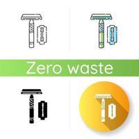 Reusable razor icon