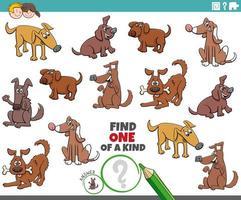 juego único para niños con perros y cachorros vector