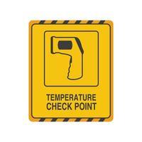 Punto de control de temperatura sobre fondo blanco.