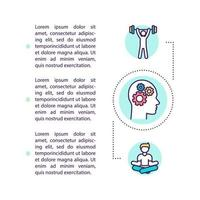 Body and mind hacking concept icon with text