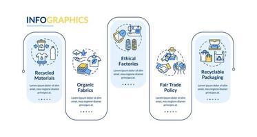 plantilla de infografía de vector de fabricante ético