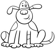 página de libro de color de personaje de perro manchado de dibujos animados vector