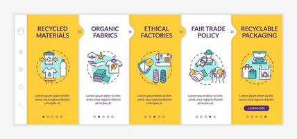 Ethical manufacturer onboarding vector template