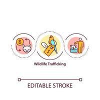 Wildlife trafficking concept icon
