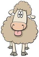 funny cartoon sheep farm animal character