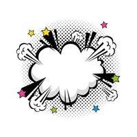 cloud explosion pop art style icon