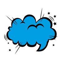 speech bubble blue color pop art style