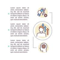Biotechnology concept icon with text