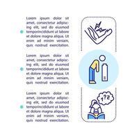 Icono de concepto de síntomas de cfs con texto vector