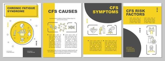 Chronic fatigue syndrome brochure template