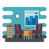livingroom home place with sofa scene vector