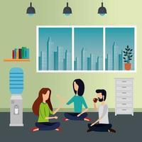 gente de negocios elegante trabajando en la oficina vector