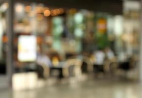 Blurry restaurant background